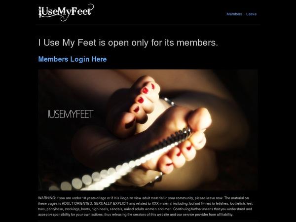 Iusemyfeet.com 가입하기