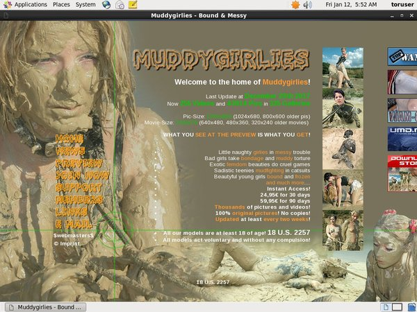 Muddy Girlies Billing Page