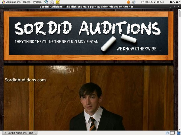 Sordid Auditions V2 With AOL Account