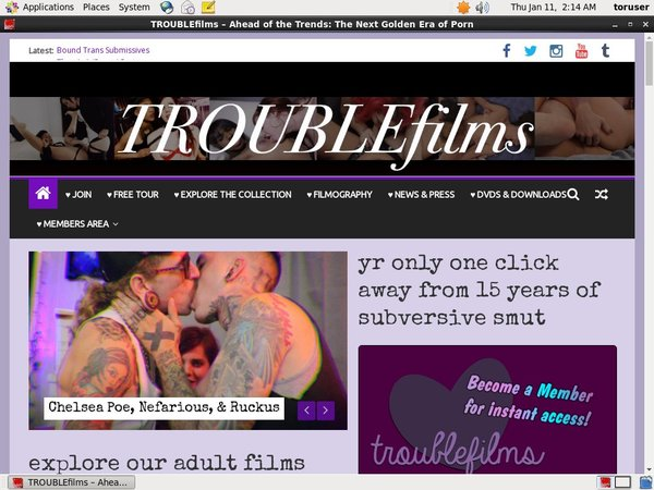 Troublefilms With Gift Card