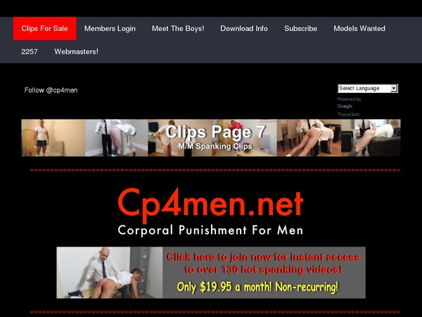 Log In Cp4men.net