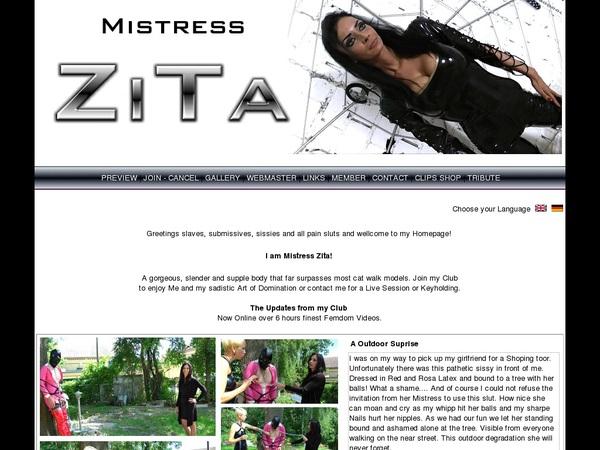 Mistress Zita Live Cams
