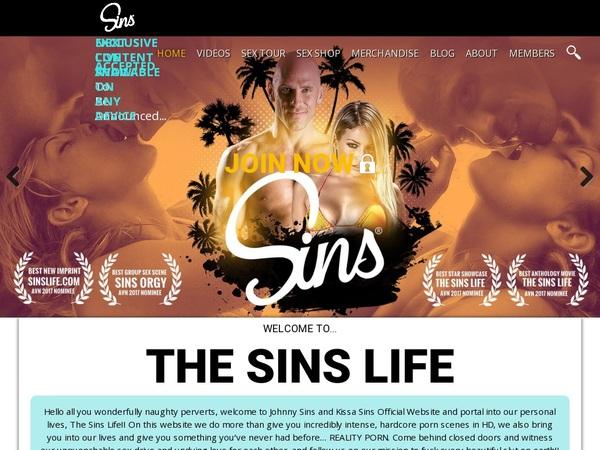 Sins Life User Name